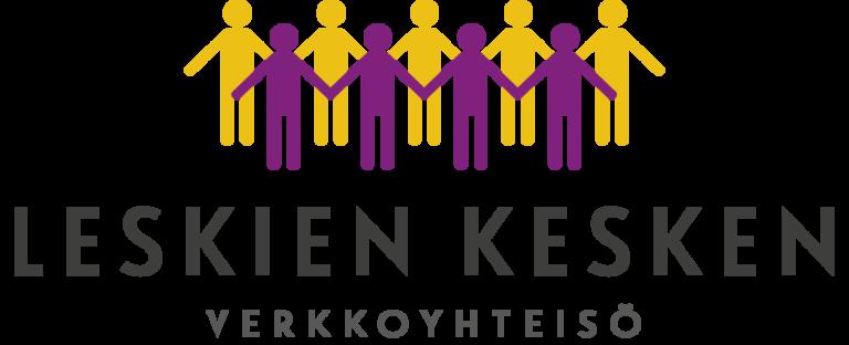 Leskien kesken -verkkoyhteisön logo.